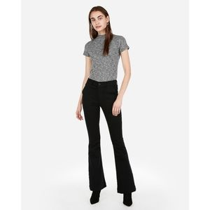 EXPRESS | Black Bell Flare Jeans | 8s